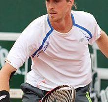 Marcus Daniell playing tennis